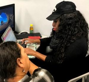 Rajene Hardeman (AfroCROWD) with Velvet Ross
