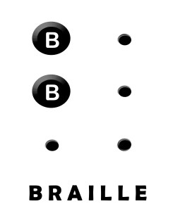 Letter B for color blind and visually impaired