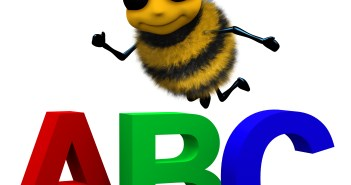 Decorative Bee with the letters A, B, C