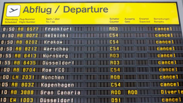 Παράταση της απεργίας μέχρι αύριο στα αεροδρόμια του Βερολίνου