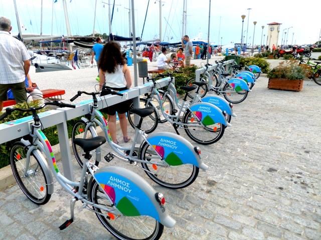 Kοινόχρηστα ποδήλατα στην Μύρινα