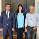 Ενισχύεται ο ρόλος της κρουαζιέρας στην τουριστική ανάπτυξη της Ηλείας – Συνάντηση της Υπουργού Τουρισμού Έλενας Κουντουρά με τον Πρόεδρο του  Λιμενικού Ταμείου Πύργου Λεωνίδα Βαρουξή