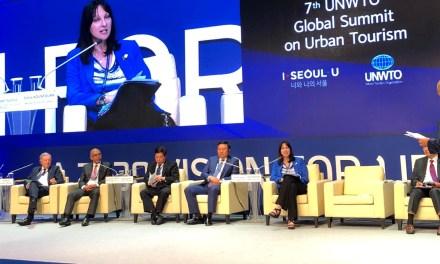 Η Υπουργός Τουρισμού Έλενα Κουντουρά παρουσίασε στην 7η Παγκόσμια Συνδιάσκεψη για τον Αστικό Τουρισμό του Παγκοσμίου Οργανισμού Τουρισμού καλές πρακτικές για τη βιώσιμη τουριστική ανάπτυξη ελληνικών προορισμών