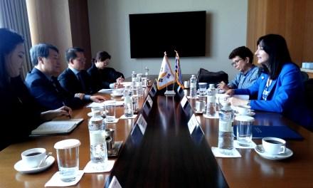 Συνάντηση της Υπουργού Τουρισμού Έλενας Κουντουρά με τονΥπουργό Πολιτισμού &Τουρισμού της Νότιας ΚορέαςDoJonghwanγια τη διμερή τουριστική συνεργασία και την αύξηση τουρισμού