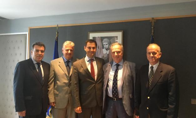«Συνάντηση της πολιτικής ηγεσίας του υπουργείου Τουρισμού με τον πρόεδρο της Ένωσης Εφοπλιστών Κρουαζιέρας, κ. Θεόδωρο Κόντε»