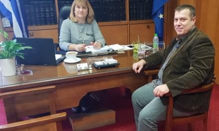 Η ανάπτυξη του τουρισμού της Χαλκίδας ήταν το θέμα συζήτησης της Προέδρου του Επιμελητηρίου μας κας Παρασκευής Αγιοστρατίτη σε συνάντηση της με τον Αντιδήμαρχο Τουρισμού Προγραμματισμού και Ηλεκτρονικής Διακυβέρνησης του Δ. Χαλκιδέων κ. Ιωάννη Νέζη