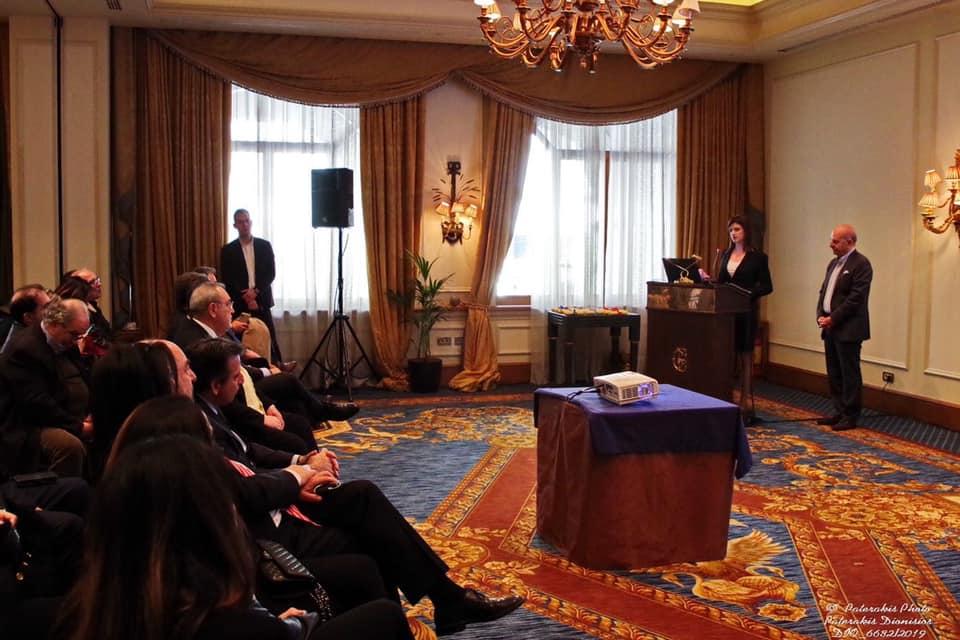 Η  Κατερίνα Νοτοπούλου  στην Γενική Συνέλευση της Ομοσπονδίας Ελληνικών Συνδέσμων Γραφείων Ταξιδιών και Τουρισμού (fedHATTA).