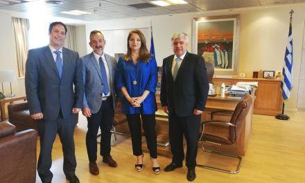 Συνάντηση συνεργασίας με τον Δημαρχο Πρέβεζας κου Νικόλαου Γεωργάκου.Με  Πρόεδρο του ΕΟΤ                    κα Άντζελα Γκερέκου