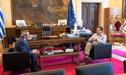 Συνάντηση Αλέξη Τσίπρα με τον περιφερειάρχη Ν. Αιγαίου: Στο επίκεντρο ο τουρισμός και η απασχόληση