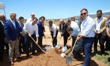 """Ο υπουργός Τουρισμού Χ. Θεοχάρης στην τελετή θεμελίωσης του ολοκληρωμένου τουριστικού συγκροτήματος """"KILADA"""""""