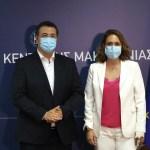 Συνάντηση του Περιφερειάρχη Κεντρικής Μακεδονίας Απόστολου Τζιτζικώστα με τη νέα Γενική Γραμματέα Τουριστικής Πολιτικής και Ανάπτυξης Βίκυ Λοΐζου