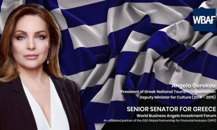 Το World Business Angels Investment Forum καλωσορίζει την Άντζελα Γκερέκου