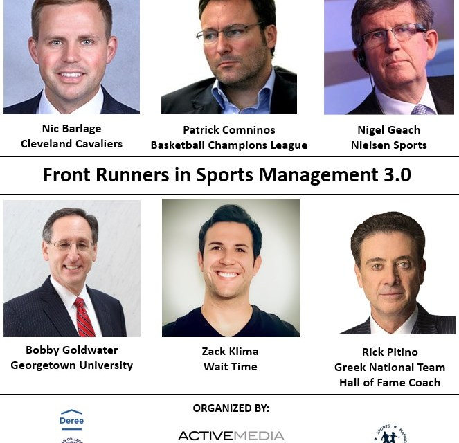 Webinar: Front Runners in Sports Management 3.0