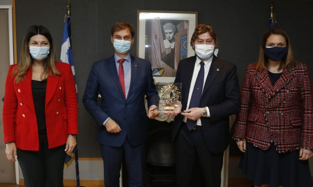 Συνάντηση Θεοχάρη με τον υπουργό Τουρισμού του Σαν Μαρίνο κ. Federico Pedini Amati στην Αθήνα