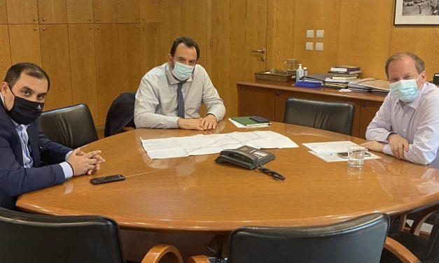 Συνάντηση Κ. Κατσαφάδου , Κ. Καραμανλή και Ν. Κουρέτα για τη διασύνδεση λιμανιού με όλα τα μέσα μεταφοράς και για τα έργα σε μετρό – τραμ