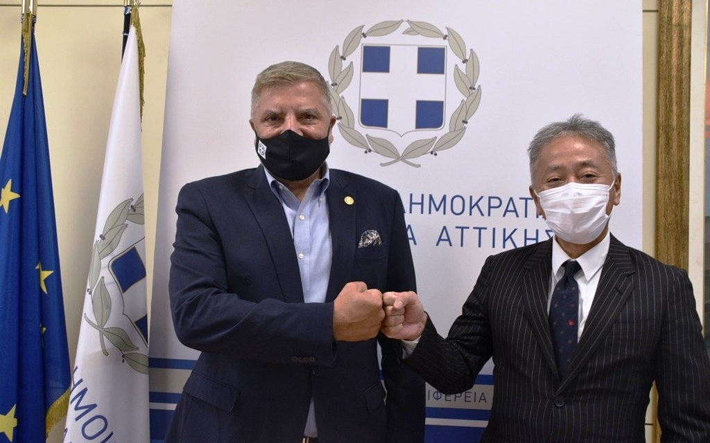 Συνάντηση του Περιφερειάρχη Αττικής Γ. Πατούλη με τον Ιάπωνα Πρέσβη Nakayama Yasunori