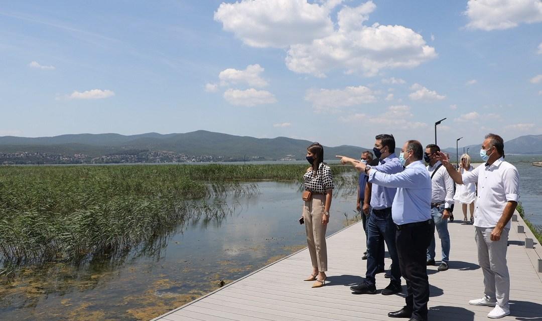 Αυτοψία του Περιφερειάρχη Κεντρικής Μακεδονίας στο έργο ανάπλασης της λίμνης Δοϊράνης