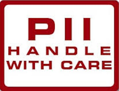 "Warning label ""PII Handle With Care"""