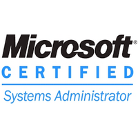 Microsoft Certified Systems Administrator Certification Badge