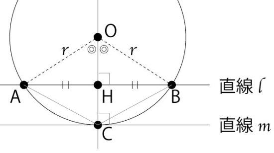円と直線と三角形