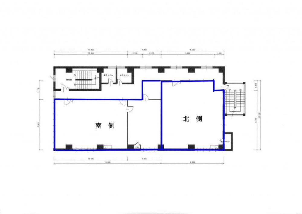 第二黒姫ビル2階平面図