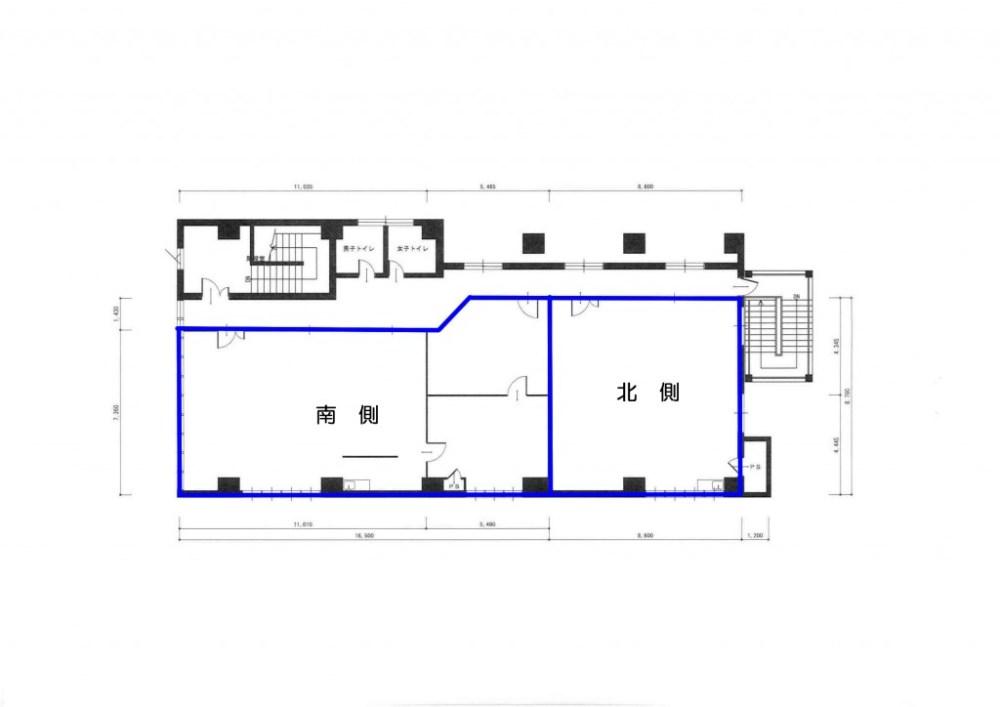 第二黒姫ビル3階平面図