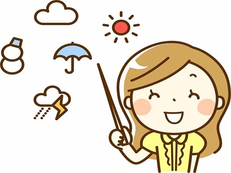 笑顔の気象予報士さん