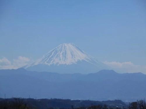 北杜市須玉町から見る富士山