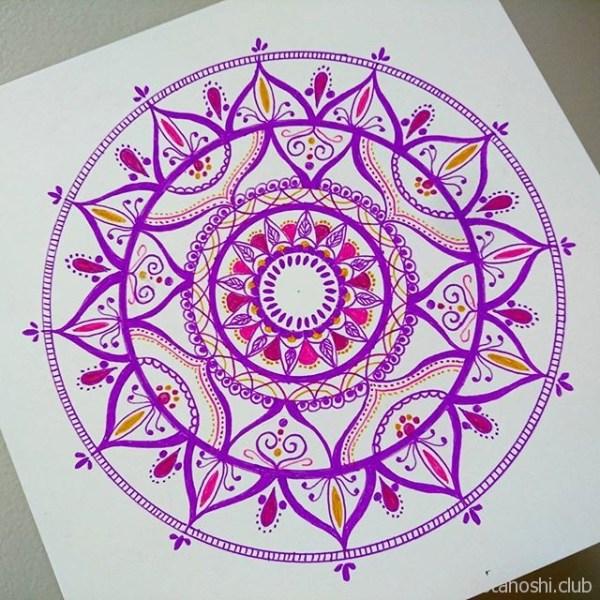 白い紙に描く曼荼羅#曼荼羅 #マンダラ #マンダラアート #mandala #mandalaart #mandalalove