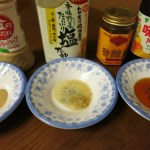 さしみこんにゃくはこの3種類の味で食べるよ!