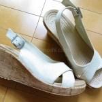 『a-leigh linen cork wrap wedge』は足が綺麗に見えるおしゃれな夏のお出かけクロックス