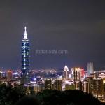 【台湾旅行】象山に楽だと言われているルートで登って台北101の夜景を見た!