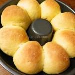日本一簡単に家で焼けるちぎりパンレシピ【エンゼルパン型付き】(Backe 晶子)のにんじんちぎりパンは朝食にバッチリ!