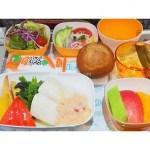 【台湾旅行】エバー航空 羽田発台北松山行きの機内食 特別食のローカロリーミール