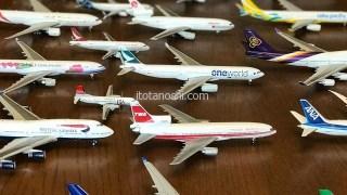 次男の飛行機模型のコレクション