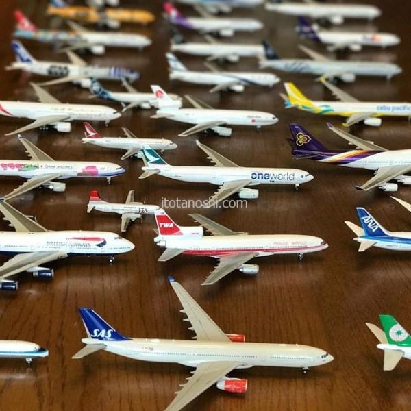 次男が飛行機模型のコレクションを並べました。400分の1スケールモデルが31機!何故かJALがありません。#飛行機模型 #飛行機 #模型 #コレクション #airplane #Instalover #instalovers #collection #collections