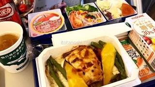 【アモイ旅行】ANA成田発厦門行きの特別食、低カロリーミールと茅乃舎の野菜スープ