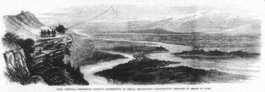 Loomis wireless telegraph illustration