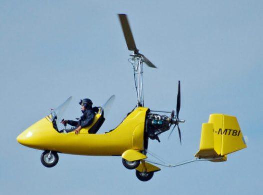 An autogyro in flight