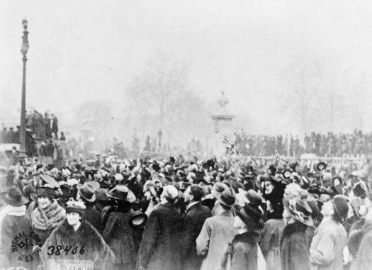 Armistice Day in London, 11 November 1918