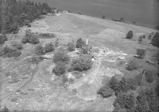 Digs and Buildings, Oak Island, Nova Scotia, Canada, August 1931