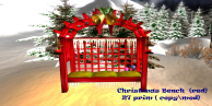 Christmas Bench (red)#tex