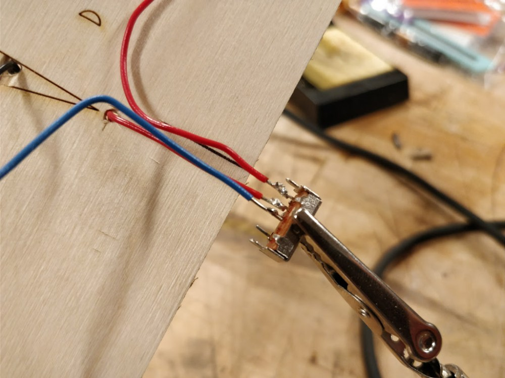Soldering the three-way switch