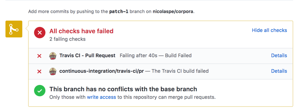 Unit tests failing my first commit