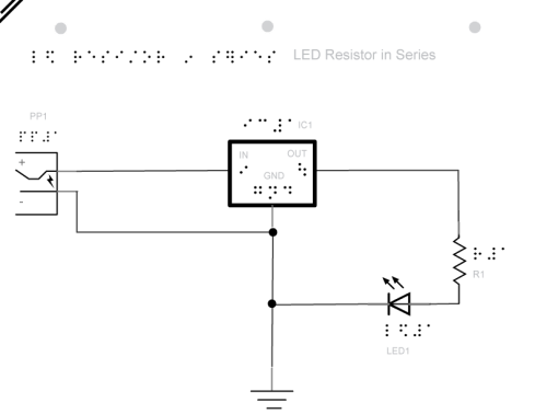 schematic for led resistor in series