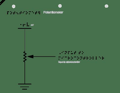 schematic of potentiometer