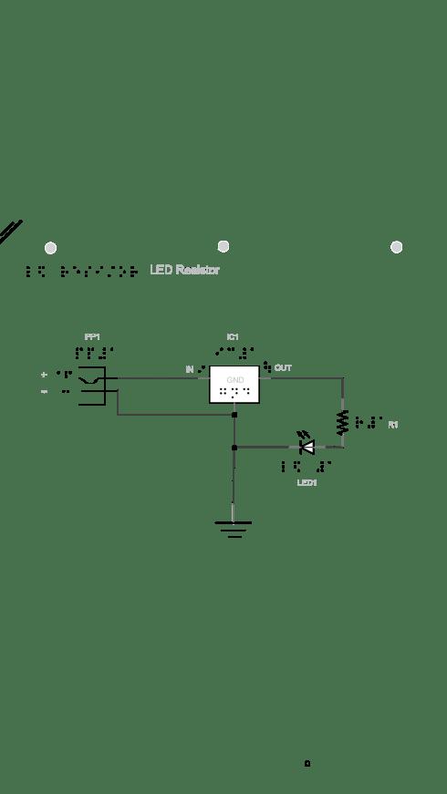 Azalea's LED resistor in series design
