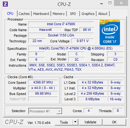 i7 4790K - CPUZ