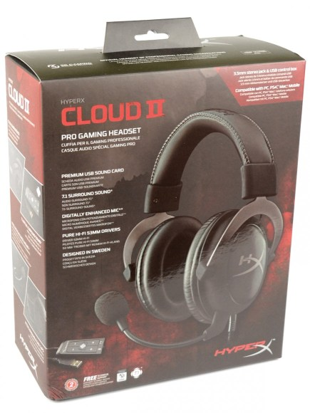 Kingston HyperX Cloud II - pudelko1