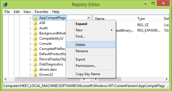Microsoft setup bootstrapper has stopped working registry editor delete